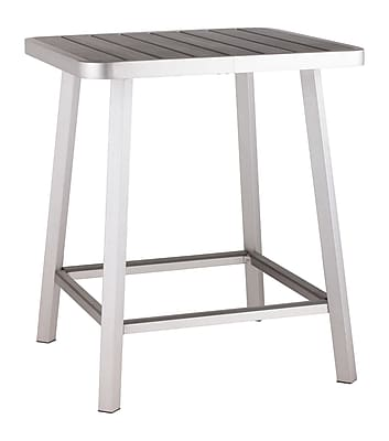 Zuo Modern Megapolis Bar Table Brushed Aluminum (WC703184)