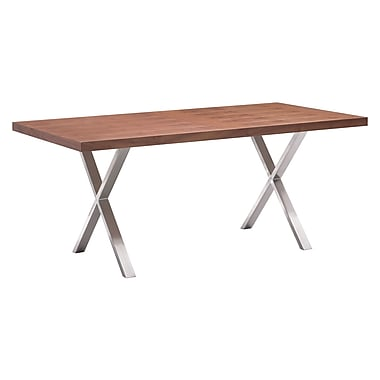 Zuo Modern Renmen Dining Table Walnut (WC100086)