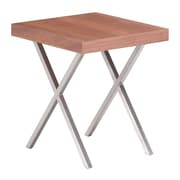 Zuo Modern Renmen Side Table Walnut (WC100089)
