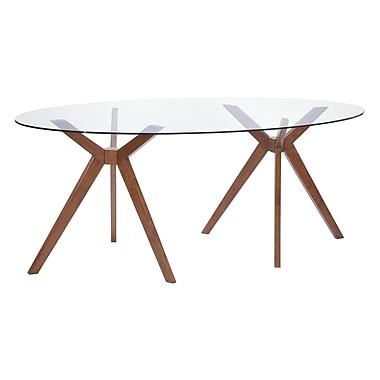 Zuo Modern – Table de salle à manger Buena Vista, noyer (WC100090)
