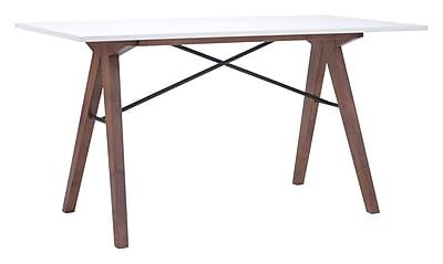 Zuo Modern Saints Desk Walnut & White (WC100147)