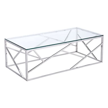 Zuo Modern Cage Coffee Table Stainless Steel (WC100179)