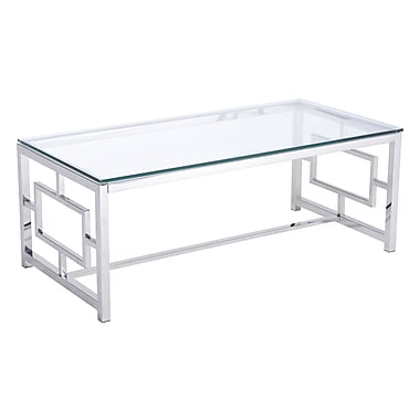 Zuo Modern Geranium Coffee Table Stainless Steel (WC100183)