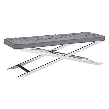 Zuo Modern Pontis Bench Gray (WC100338)