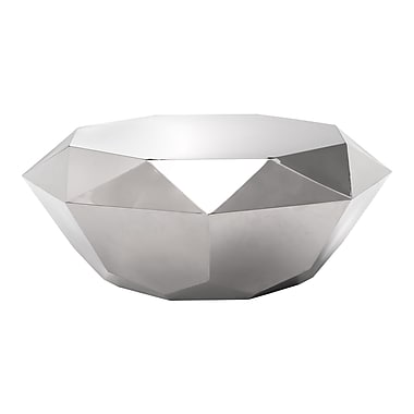Zuo Modern Gem Coffee Table Stainless Steel (WC100344)