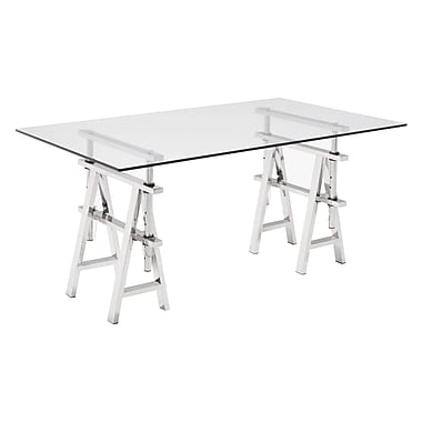 Zuo Modern Lado Desk Chrome (WC100356)