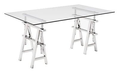 Zuo Modern Lado Desk Chrome (WC100356)
