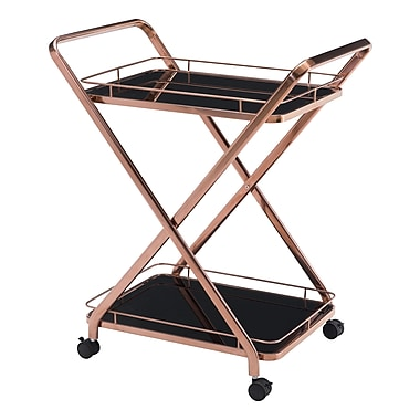 Zuo Modern Vesuvius Serving Cart Rose Gold (WC100370)