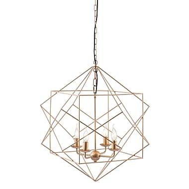 Zuo Modern – Lampe de plafond Penta, doré (WC56022)