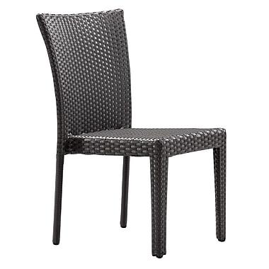Zuo Modern – Chaise de salle à manger Arica, espresso, 2/paquet (WC701360)