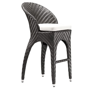 Zuo Modern Corona Bar Chair Espresso (WC703647)