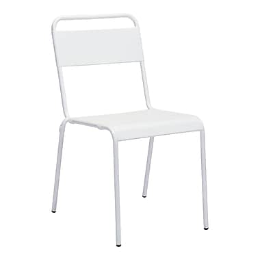 Zuo Modern Oh Dining Chair White, 2/Pack (WC703612)