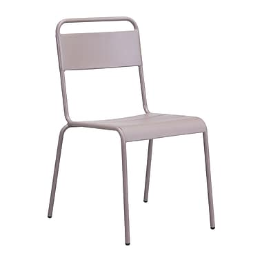 Zuo Modern Oh Dining Chair Taupe, 2/Pack (WC703613)