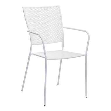 Zuo Modern Pom Dining Chair White, 2/Pack (WC703614)