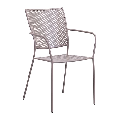 Zuo Modern Pom Dining Chair Taupe, 2/Pack (WC703615)