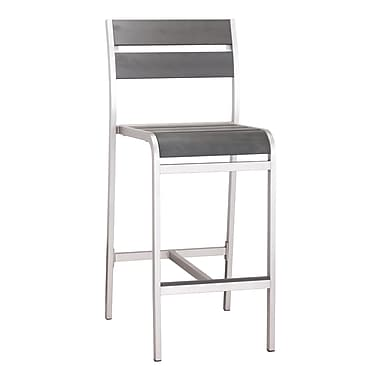 Zuo Modern Megapolis Bar Armless Chair, 2/Pack (WC703186)