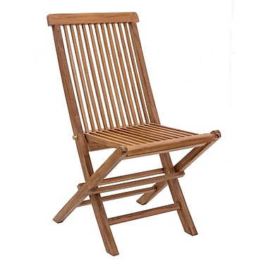 Zuo Modern Regatta Folding Chair Natural, 2/Pack (WC703553)