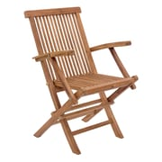 Zuo Modern Regatta Folding Arm Chair Natural, 2/Pack (WC703554)