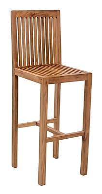 Zuo Modern Trimaran Bar Chair Natural (WC703551)