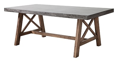 Zuo Modern Ford Dining Table Cement & Natural (WC703594)
