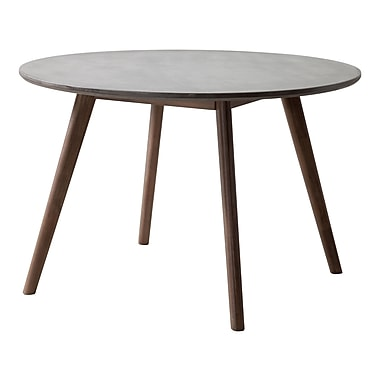 Zuo Modern – Table de salle à manger Elite, ciment et naturel (WC703590)