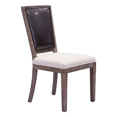 Zuo Modern Market Dining Chair Brown & Beige, 2/Pack (WC98379)