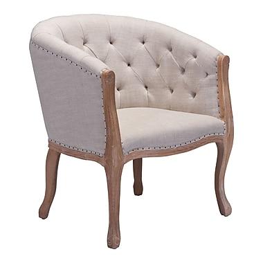 Zuo Modern – Chaise de salle à manger Shotwell, beige (WC98380)