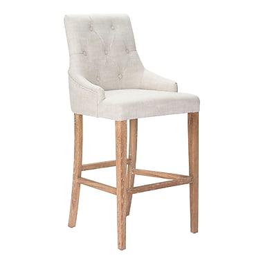 Zuo Modern – Chaise de bar Burbank, beige (WC98612)
