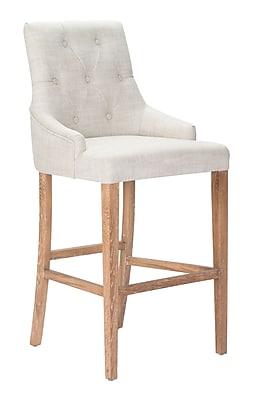 Zuo Modern Burbank Bar Chair Beige (WC98612)