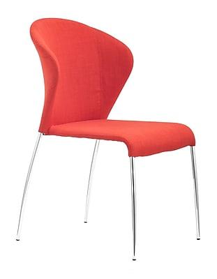 Zuo Modern Oulu Dining Chair Tangerine (Set of 4) (WC100041)