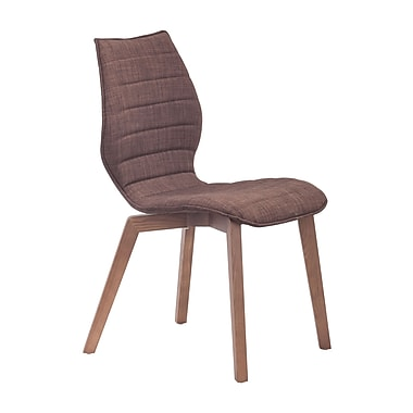 Zuo Modern – Chaise de salle à manger Aalborg, tabac, 2/paquet (WC100056)