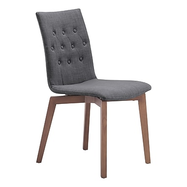 Zuo Modern Orebro Dining Chair Graphite, 2/Pack (WC100071)