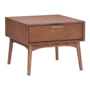 Zuo Modern Design District Side Table Walnut (WC100092)