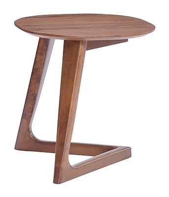 Zuo Modern Park West Side Table Walnut (WC100098)