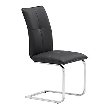 Zuo Modern – Chaise de salle à manger Anjou, noir, 2/paquet (WC100120)