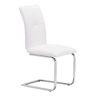 Zuo Modern Anjou Dining Chair White, 2/Pack (WC100121)