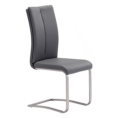 Zuo Modern Rosemont Dining Chair Gray, 2/Pack (WC100138)