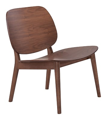 Zuo Priest Wood Bankers Office Chair, Armless, Brown (WC100152)