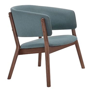 Zuo Modern Chapel Lounge Chair Blue, 2/Pack (WC100155)