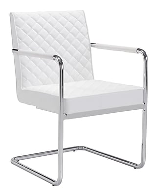 Zuo Modern Quilt Dining Chair White (Set of 2) (WC100190)