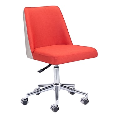 Zuo Modern – Chaise de bureau Season, orange/beige (WC100234)