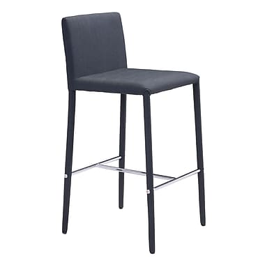 Zuo Modern Confidence Counter Chair Black, 2/Pack (WC100244)