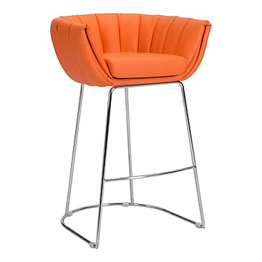 Zuo Modern – Tabouret de bar Latte, orange, 2/paquet (WC100248)