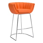 Zuo Modern Latte Bar Chair Orange (Set of 2) (WC100248)