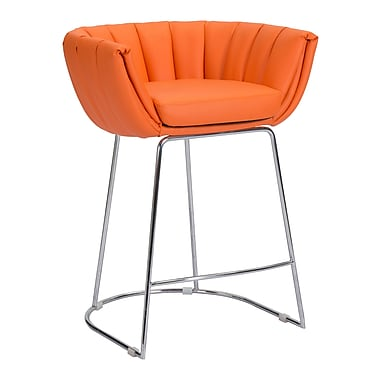Zuo Modern Latte Counter Chair Orange, 2/Pack (WC100250)