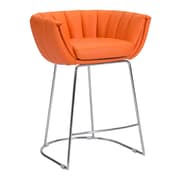 Zuo Modern Latte Counter Chair Orange (Set of 2) (WC100250)