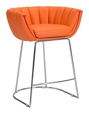 Zuo Modern Latte Counter Chair Orange (Set of 2) (WC100250)