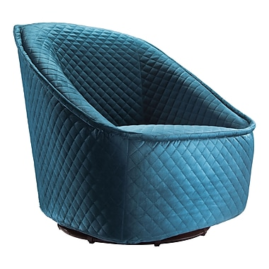 Zuo Modern – Fauteuil pivotant Pug, aigue-marine (WC100251)