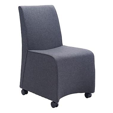 Zuo Modern – Chaise de salle à manger Whittle, gris foncé, 2/paquet (WC100266)