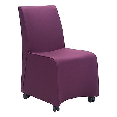 Zuo Modern – Chaise de salle à manger Whittle, violet, 2/paquet (WC100267)